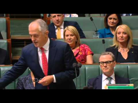Clive Palmer - Question to the PM in regards to Liberal funding