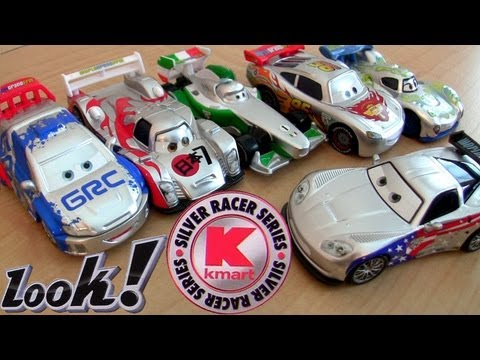Cars 2 Silver Racer Series Metallic Finish Kmart K-day 8 Diecast Toys Collectors Event Disney Pixar