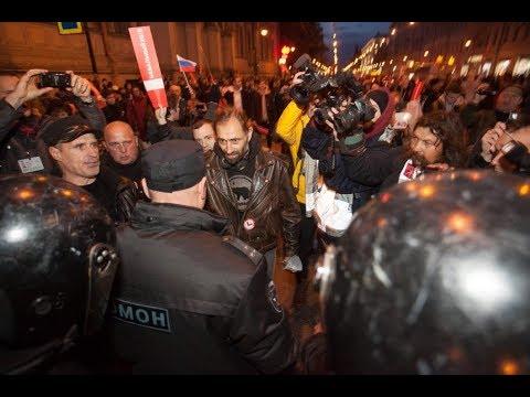 Задержания на митинге за Навального в Петербурге (07.10.17)