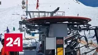 ЧП в Гудаури: чтобы спастись, туристы прыгали с аварийной канатки - Россия 24