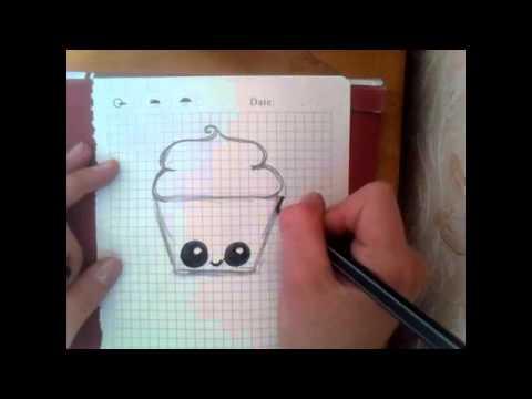 Видео как нарисовать кекс