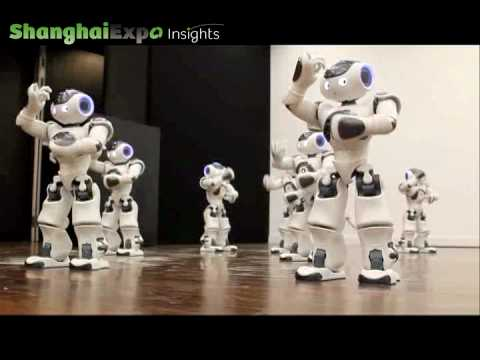 World Premiere: 20 Nao Robots Dancing In Synchronized Harmony video