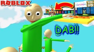 ESCAPE GIANT DABBING BALDI OBBY!! | The Weird Side of Roblox: Baldi's Basics Obby