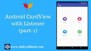 Android Studio Tutorial : CardView with material design (part-1)