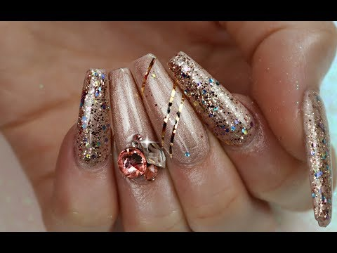 HOW TO APPLY BIG CRYSTALS TO NAILS THAT LAST
