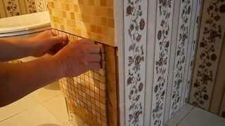 Как спрятать трубы в ванной.