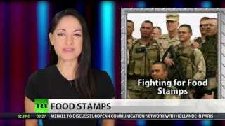 US soldiers used $100 million in (food stamps) in 2013   2/20/14