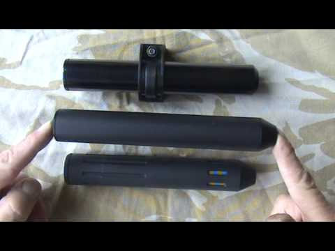 AIR GUN SUPPRESSOR 22lr HMR RIMFIRE RIFLE SILENCER DESIGNS HUGGETT Pt1