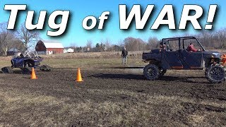 Tug of War! RS1 vs Turbo S vs X3 vs Ranger vs 3500HD!