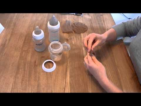 Structuurhoes voor flessenspeen (flesweigeren)