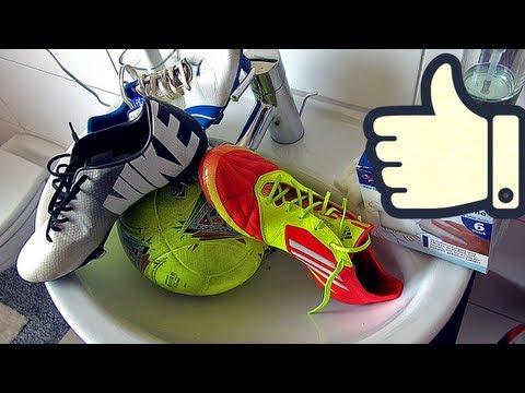 How To Clean Soccer Cleats & Footballs | Fußballschuhe reinigen by freekickerz