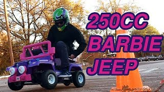 We Built a 250cc Power Wheels Barbie Jeep