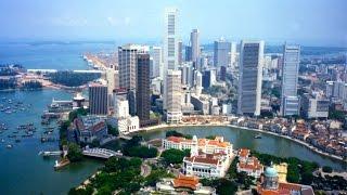 Xem toàn cảnh Singapore trên cao - panoramic overhead view of singapore.