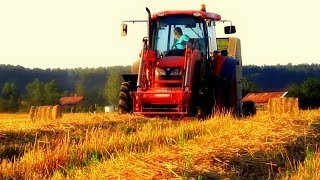 Kubota m9540 & Claas Rollant 44 [Engine Sound]