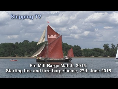 2015 Pin Mill Barge Match - start and finish.