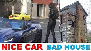 Girls React to a Guy with Nice Car and Crappy House