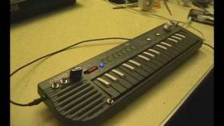 Circuit bent Casio SA-2 with 8 modifications