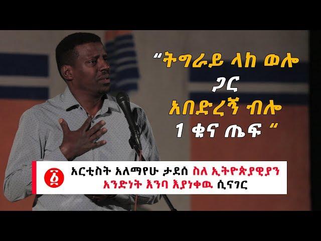 Ethiopia: Artist Alemayehu Tadesse speaks about  Ethiopians' unity in tears