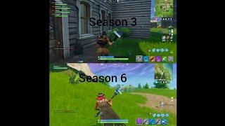 Fortnite season 3 vs season 6