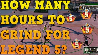 Nba 2k16- How Many Hours To Grind For Legend 5? - Legend 5 By Nba 2k17?
