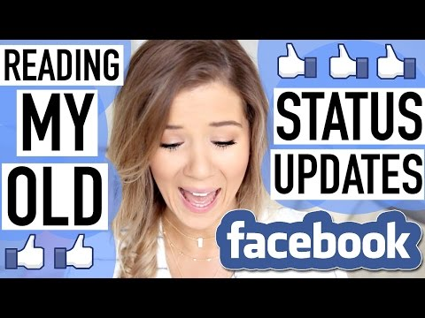 REACTING TO MY OLD FACEBOOK STATUSES