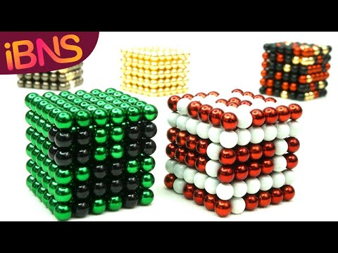 Real Life Minecraft - Playing with magnetic balls - Oddly satisfying mildy ASMR