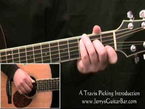 Travis Picking A Beginner's Fingerpicking Guitar Lesson