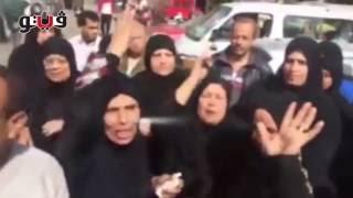 انهيار خالة ضحية الدرب الأحمر أمام مسجد السيدة نفيسة