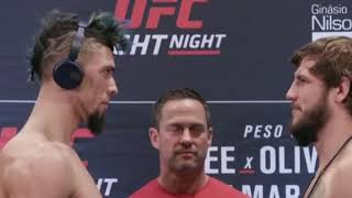 UFC Brazilia  || Kevin Lee vs Charles Oliveira  and all fighters face offs.