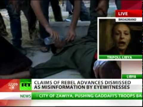 Libya / Breaking News: 21/08/2011 - rebel advances on Tripoli a fake! Disinformation campaign, RT