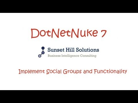 DotNetNuke 7 CE - Implementing Social Groups and Functionality
