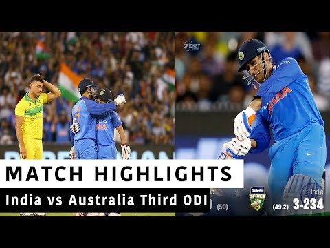 India Vs Australia Full Third ODI Highlights| Today Match Highlights