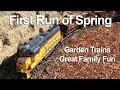 Garden Trains: 1st Run for 2014 Season - B.I.G.D. Railroad