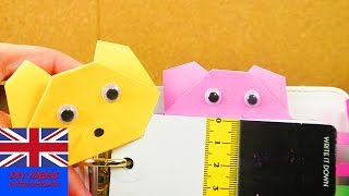 How to make an origami bear bookmark | easy and super sweet | gift ideas | origami