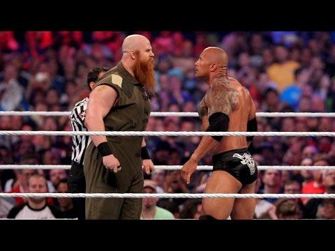 The Rock vs. Erick Rowan: WrestleMania 32 thumbnail
