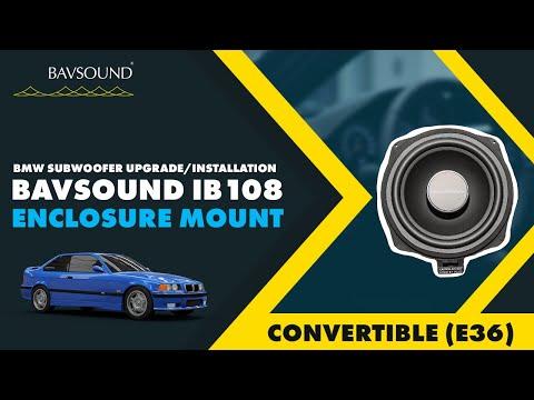 Bmw E36 Convertible Subwoofer Install Ib108 Enclosure