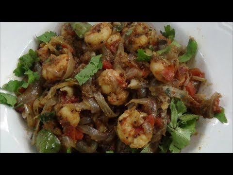 Pepper Prawn Fry - Spicy Shrimp Recipe -Indian Prawn Recipe - By Healthy Food Kitchen
