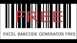 Any Size Barcode Generator in Excel !! Free to download.