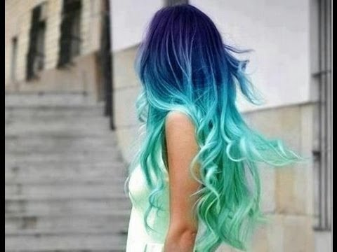 HOW TO- Blue Ombre Hair