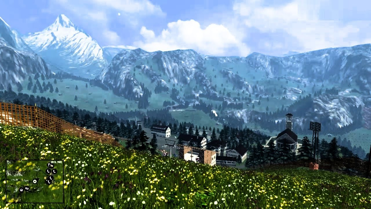 Alps Map Fs15 Tyrolean Alps Map V1.1