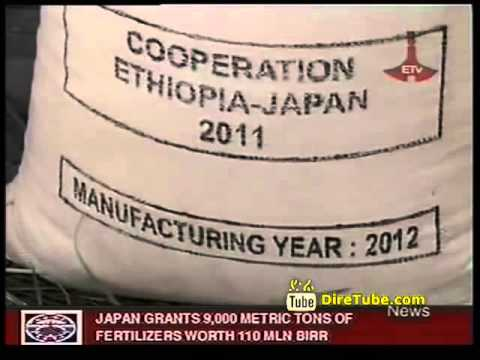 Japan Grants 9000 Metric Tons of Fertilizers Worth 110 MLN Birr