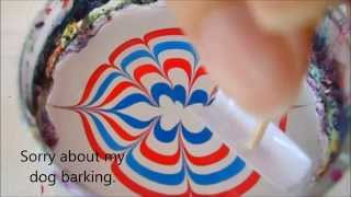 Simple water marble design for 4th of July