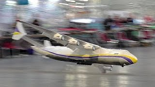 INCREDIBLE RC LIGHTWEIGHT ANTONOV AN-225 MRIYA SCALE MODEL AIRPLANE AIRLINER INDOOR FLIGHT DEMO
