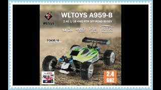 WLTOYS RC Buggy A959-B, Scale 1:18TH Electric RTR, 4WD 70KM / h
