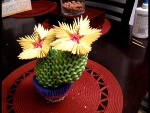 3d origami blooming cactus кактус 01 43 mins visto 149820