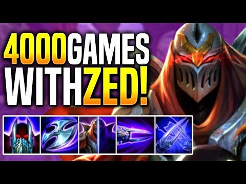 HOW A KOREAN ZED PLAYER WITH 4000GAMES LOOKS LIKE...