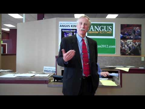 Angus King On the Campaign Trail - April 13