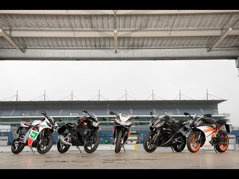 Aprilia RS4 125 v KTM RC125 v Honda CBR125R v Rieju RS3 v Yamaha YZF-R125 - 125cc test and review