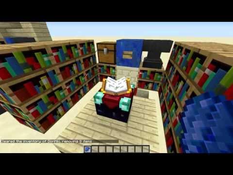 Minecraft Tutorial Redstone: Sala Encantamientos para 1.8 Entrega y recicla el lapislazuli