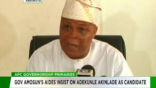Governor Amosun's aides insist on Akinlade as APC guber candidate